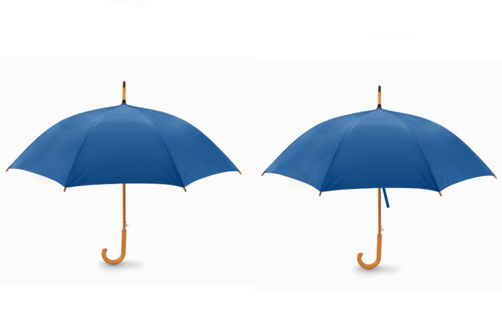 Parapluie canne personnalisé 104 cm poignée en bois - Milo