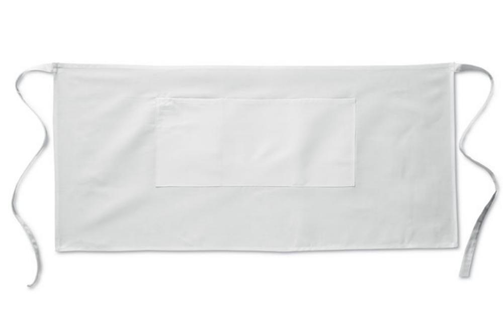 Tablier serveur personnalisé en coton et polyester 195 g/m² 90x40cm - Escaut