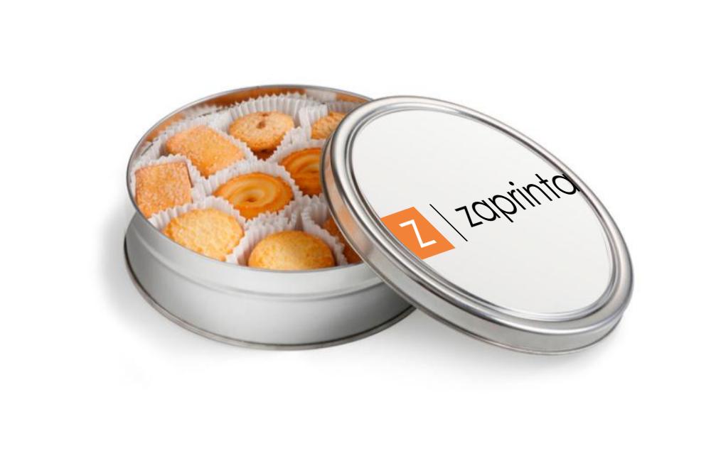 Boîte à biscuits ronde personnalisée - Cristal