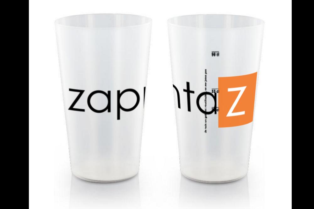Gobelet plastique réutilisable personnalisé 60cl - San Diego - Zaprinta Belgique